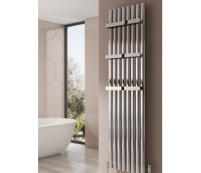 Reina Neval White Aluminium Single Panel Oval Tube Vertical Radiator 1800 x 404