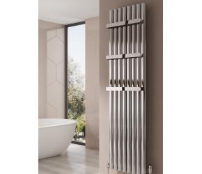 Reina Neval Anthracite Aluminium Single Panel Oval Tube Vertical Radiator 1800 x 286