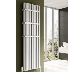 Reina Neval White Aluminium Double Panel Oval Tube Vertical Radiator 1800 x 345