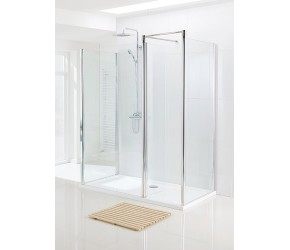 Lakes Classic Semi-Frameless Walk In Front Panel 1200mm Wide x 1850mm High