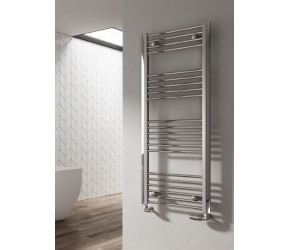 Reina Divale Polished Aluminium Designer Towel Rail 1200mm x 530mm