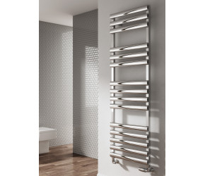 Reina Veroli White Aluminium Designer Towel Rail 750mm x 480mm