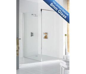 Lakes Classic Semi-Frameless Shower Screen 700mm Wide x 1985mm High