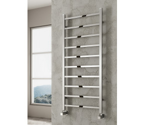 Reina Serena Anthracite Square Designer Towel Rail 1200mm x 300mm