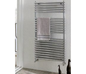 Eastbrook Biava Double Tube On Tube Chrome Heated Towel Rail 600mm x 500mm