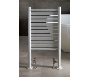 Eastbrook Termoli White Freestanding Heated Towel Rail 1000mm 545mm