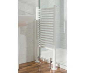Eastbrook Vieste Chrome Freestanding Heated Towel Rail 1000mm 545mm