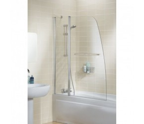 Lakes Classic Sculpted Bath Screen With Rail 1175mm x 1400mm