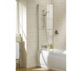 Lakes Classic Square Bath Screen With Rail 800mm x 1500mm