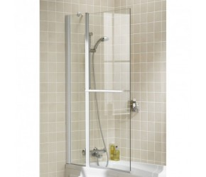 Lakes Classic Square Bath Screen With Rail 944mm x 1500mm