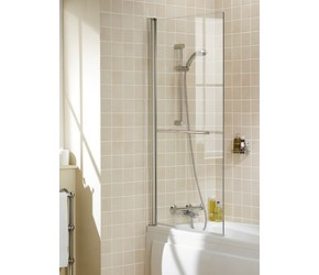 Lakes Classic Square Bath Screen 8mm Glass 800mm x 1500mm