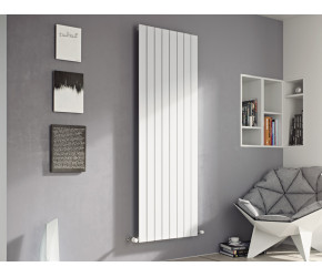 Eucotherm Mars White Vertical Flat Single Panel Designer Radiator 1500mm x 445mm