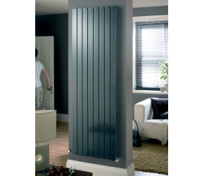Eucotherm Mars Anthracite Flat Single Panel Designer Radiator 600mm x 595mm