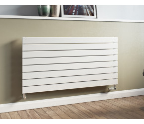 Eucotherm Mars White Horizontal Flat Single Panel Designer Radiator 595mm x 1500mm
