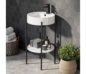 Iona Supreme Designer Basin with Black Stand