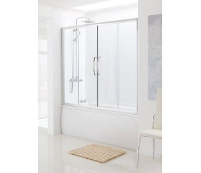 Lakes Classic Over Bath Semi-Frameless Double Slider Door 1600mm x 1500mm