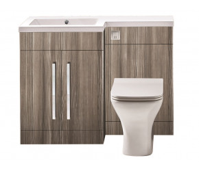 Iona Life Avola Grey 1100mm Bathroom Combination Unit Left Hand