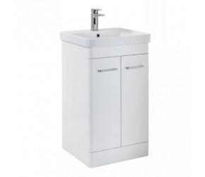 Iona Eve Gloss White Two Door Bathroom Vanity Unit with Basin 500mm