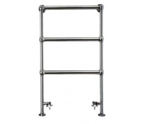 Eastbrook Windrush Traditional Chrome Towel Rail 950mm High x 600mm Wide