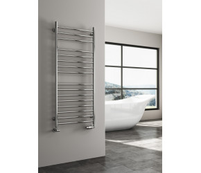Reina Luna Straight Stainless Steel Towel Rail 600mm High x 300mm Wide