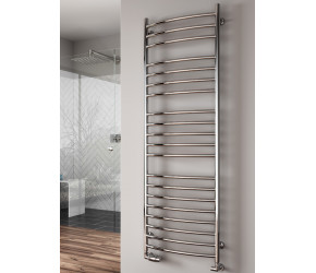 Reina Eos Stainless Steel Towel Rail Curved 720mm High x 500mm Wide