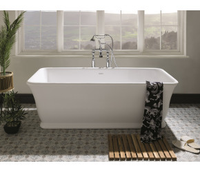 BC Designs Magnus Cian Solid Surface Bath 1680mm Long x 750mm Wide