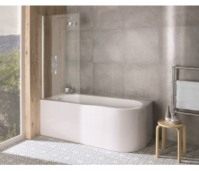 BC Designs Ancorner Left Hand Shower Bath 1700mm x 750mm
