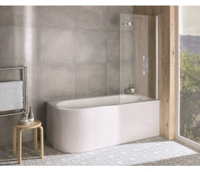 BC Designs Ancorner Right Hand Shower Bath 1700mm x 750mm
