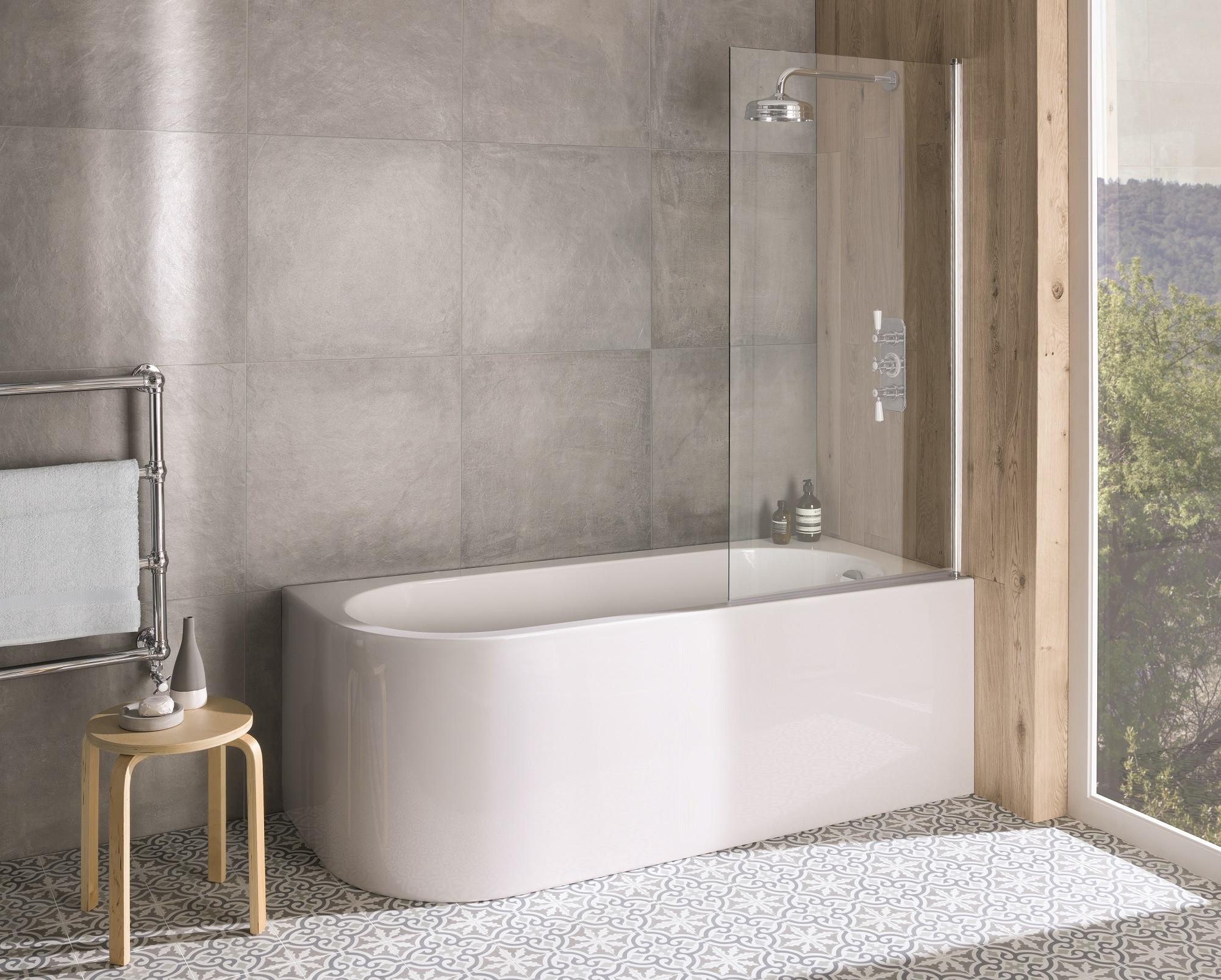 Bc Designs Ancorner Right Hand Shower Bath 1700mm X 750mm