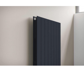 Eucotherm Mars Elegant Anthracite Vertical Double Panel Slim Radiator 1800mm x 295mm