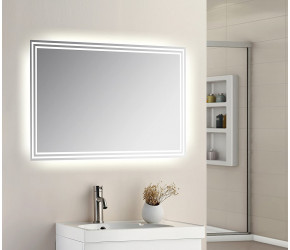 Tailored Plumb Universal LED Mirror with Touch Sensor 600mm x 500mm