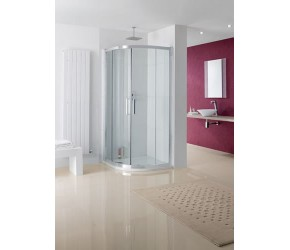Lakes Valmiera Semi-Frameless Quadrant 800mm x 800mm