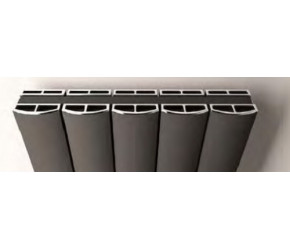 Eastbrook Guardia Chrome Cover Cap Set 850mm