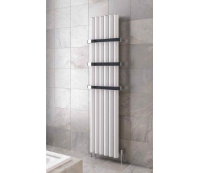 Eastbrook Burford Matt White Vertical Aluminium Radiator 1800mm x 485mm