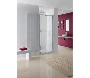 Lakes Bergen Semi-Frameless Bi-Fold Shower Enclosure 1000mm Wide x 2000mm High