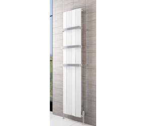 Eastbrook Fairford Matt White Vertical Aluminium Radiator 1800mm x 375mm