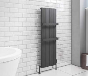 Eastbrook Fairford Matt Anthracite Vertical Aluminium Radiator 1200mm x 375mm