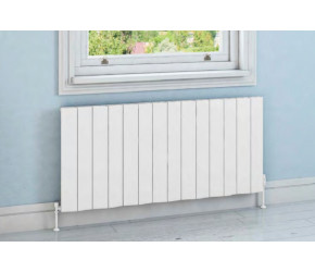 Eastbrook Fairford Matt White Horizontal Aluminium Radiator 600mm x 565mm
