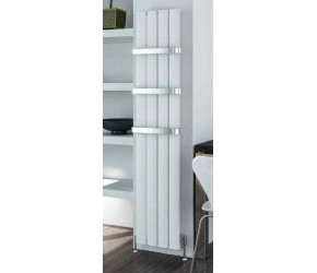 Eastbrook Malmesbury Matt White Vertical Aluminium Radiator 1800mm x 185mm