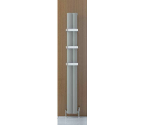 Eastbrook Malmesbury Matt Grey Vertical Aluminium Radiator 1800mm x 185mm