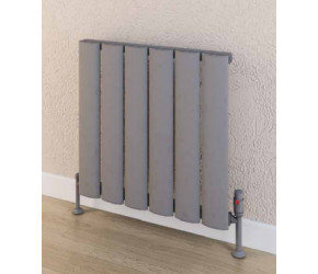 Eastbrook Malmesbury Matt Grey Horizontal Aluminium Radiator 600mm x 470mm
