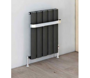 Eastbrook Malmesbury Matt Anthracite Horizontal Aluminium Radiator 600mm x 375mm