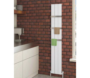 Eastbrook Charlton Matt White Vertical Aluminium Radiator 1800mm x 375mm