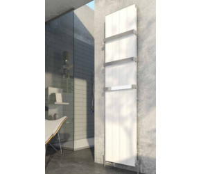 Eastbrook Vesima Matt White Vertical Aluminium Radiator 1800mm x 403mm