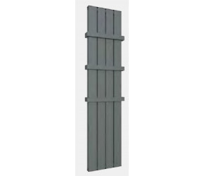 Eastbrook Vesima Matt Anthracite Vertical Aluminium Radiator 1800mm x 303mm