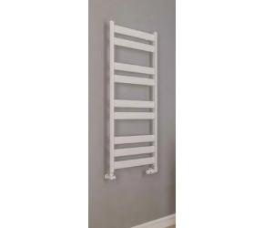 Eastbrook Pelago Matt White Aluminium Slim Heated Towel Rail 1800mm x 600mm