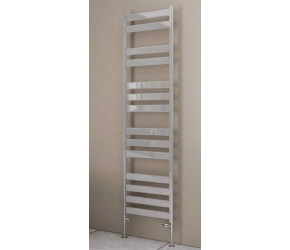 Eastbrook Pelago Polished Aluminium Slim Heated Towel Rail 600mm x 500mm