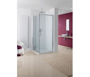 Lakes Malmo Corner Entry Semi-Frameless Shower Enclosure 900mm Wide x 2000mm High