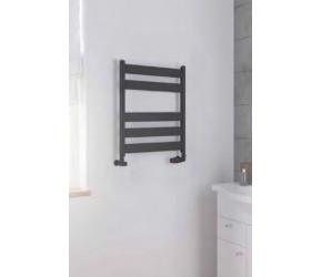 Eastbrook Pelago Matt Anthracite Aluminium Slim Heated Towel Rail 600mm x 500mm