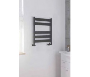 Eastbrook Pelago Matt Anthracite Aluminium Slim Heated Towel Rail 1800mm x 600mm